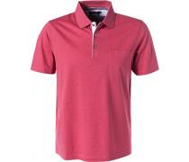 Polo-Shirt, mercerisierte Baumwolle, pink meliert