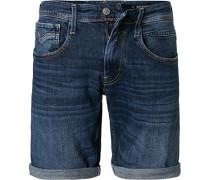 Jeansshorts Anbass, Baumwoll-Stretch, indigo