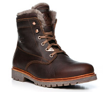 Schuhe Schnürboots, Leder warmgefüttert, dunkel