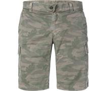 Hose Cargo-Shorts, Baumwolle, camouflage