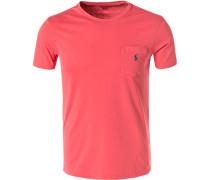 T-Shirt, Custom Slim Fit, Baumwolle, koralle