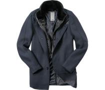 Mantel, Wolle, dunkel meliert