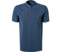 T-Shirt, Baumwoll-Piqué, navy