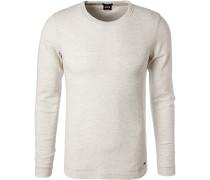 T-Shirt Longsleeve, Slim Fit, Baumwolle,  meliert