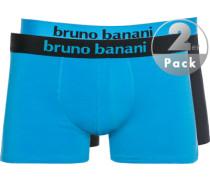 Unterwäsche Trunks, Baumwoll-Stretch, azurblau-