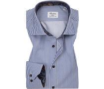 Hemd, Slimline, Twill, -weiß gestreift