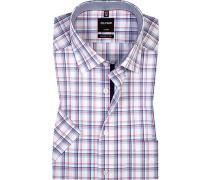 Hemd, Modern Fit, Popeline, -blau kariert