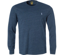 Langarmshirt, Custom Slim Fit, Baumwolle