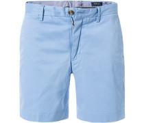 Hose Bermudashorts, Straight Fit, Baumwolle, bleu