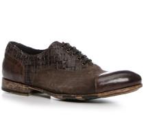 Schuhe Brogue, Kalbleder, testa di moro