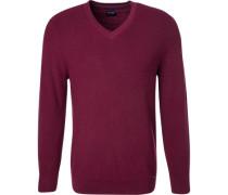 Pullover, Modern Fit, Schurwolle, barolo