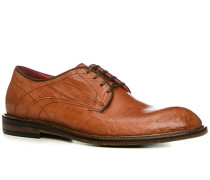 Schuhe Derby, Kalbleder glatt, cuoio