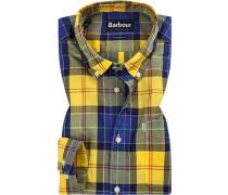 Hemd, Tailored Fit, Popeline, -gelb kariert