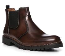 Schuhe Chelsea-Boot, Kalbleder, dunkel