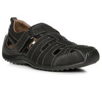 Schuhe Sandalen, Nubukleder