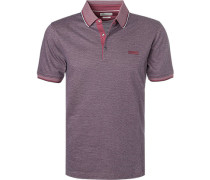 Polo-Shirt, Baumwolle, -schwarz meliert
