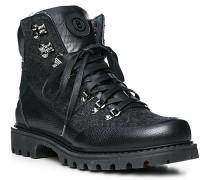 Schuhe Boots, Textil-Leder mit Spikes, anthrazit