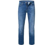 Jeans, Regular Fit, Baumwoll-Stretch, mittel