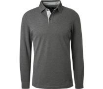 Polo-Shirt, Slim Fit, Baumwolle, mittel meliert