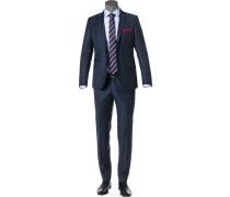 Anzug, Slim Fit, Schurwolle, navy