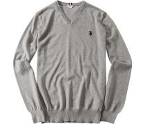 Pullover, Baumwolle, hell meliert