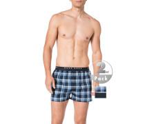 Schlafanzug Pyjamashorts, Baumwolle,  kariert