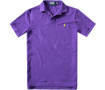 Polo-Shirt, Slim Fit, Baumwoll-Piqué, lavendel