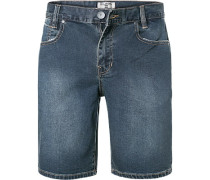 Jeansshorts, Slim Fit, Baumwoll-Stretch, dunkel