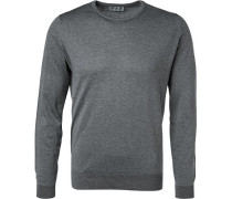 Pullover, Easy Fit, Sea Island Cotton,  meliert