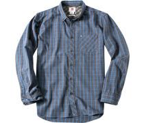 Hemd, Modern Fit, Popeline, jeans kariert