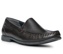 Schuhe Slipper, Hirschleder, dunkel
