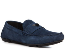 Schuhe Mokassins, Veloursleder, nacht