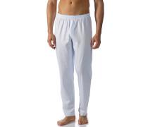Pyjamahose, Baumwolle, hell-weiß gestreift