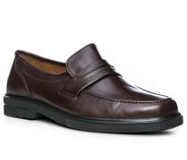 Schuhe Loafers, Lammleder, kaffee