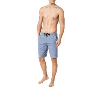 Schlafanzug Pyjama-Shorts, Baumwolle, grau meliert