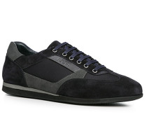 Schuhe Sneaker, Veloursleder-Nylon, navy
