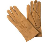 Handschuhe, Lammfell, haselnuss