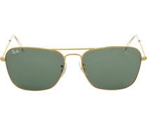 Brillen Sonnenbrille Caravan, Metall, gold grün