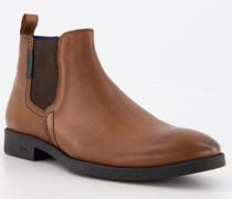 Schuhe Chelsea Boots, Leder, cognac
