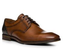 Schuhe Derby Higgins, Kalbleder, cognac