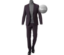 Anzug, Shape Fit, Schurwoll-Stretch, aubergine
