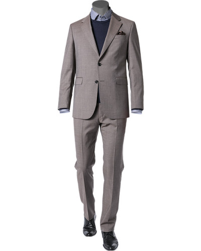 Anzug, Schurwolle, grau