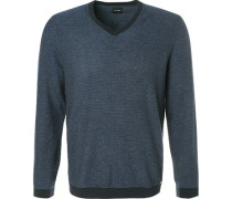 Pullover, Modern Fit, Wolle, marine