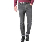 Jeans, Modern Fit, Baumwoll-Stretch, anthrazit