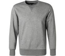 Sweatshirt, Baumwolle, stein meliert