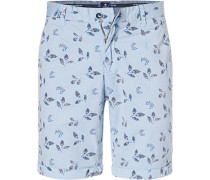 Hose Shorts, Regular Fit, Baumwolle,  gemustert
