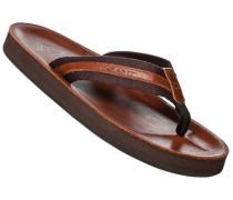 Schuhe Zehensandalen, Leder, cognac