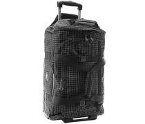 Reisetasche auf Rollen, Microfaser, -weiß kariert