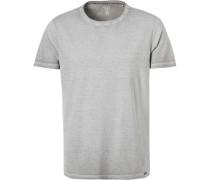 T-Shirt, Body Fit, Baumwolle,  gestreift