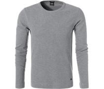Pullover, Slim Fit, Baumwolle, hell meliert